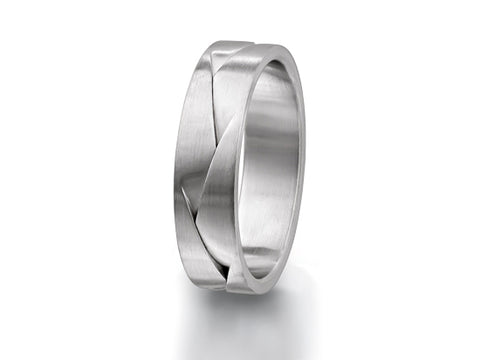 Palladium and Carbon Fiber Men's Wedding Band