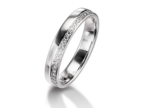 Simple Simple White Gold and Diamond Wedding Band in Washington DC
