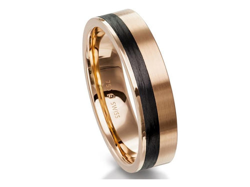 Carbon Fiber Men's Wedding Band in Washington DC