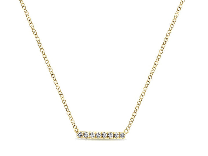 14K Yellow Gold and Diamond Necklace at the Best Jewelry Store in Washington DC