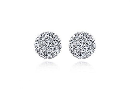14K White Gold and Diamond Stud Earrings at the Best Jewelry Store in Washington DC