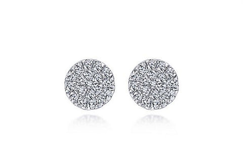 Petite Sapphire and Diamond Stud Earrings