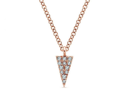 14K Rose Gold and Diamond Pendant Necklace in Washington DC