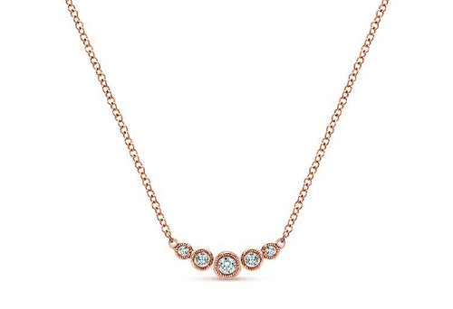 14K Rose Gold and Diamond Necklace at that Best Jewelry Store in Washington DC