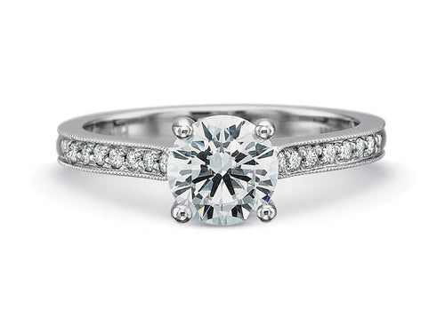 Simple White Gold and Diamond Solitaire Engagement Ring in Washington DC
