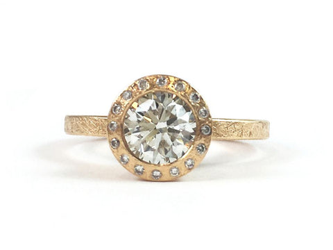 18K Yellow Gold Marquis Diamond Engagement Ring Mounting
