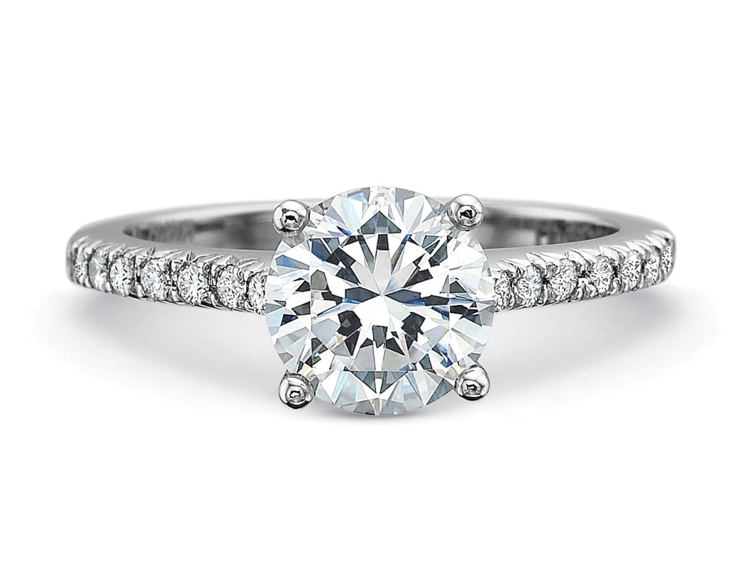 White Gold, Platinum and Diamond Solitaire Engagement Ring in Washington DC