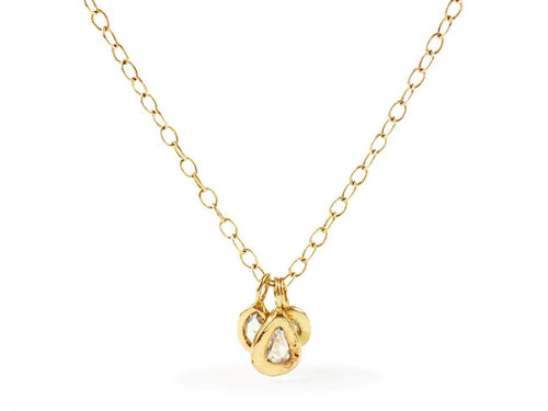 14K Yellow Gold and Marquis, Pear and Oval-shaped Diamond 3-Pendant Necklace