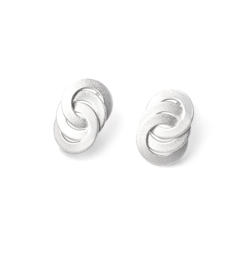 "Sterling Silver ""Circle Infinity"" Earrings"