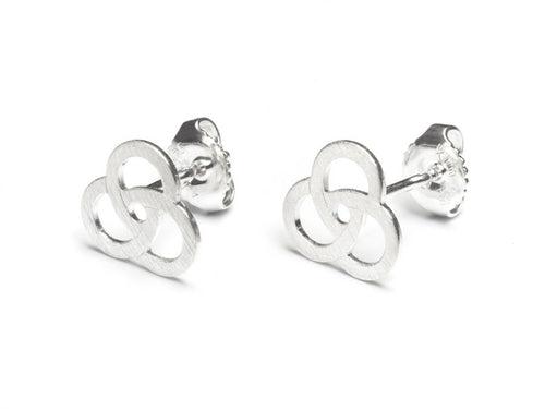Sterling Silver Trinity Stud Earrings