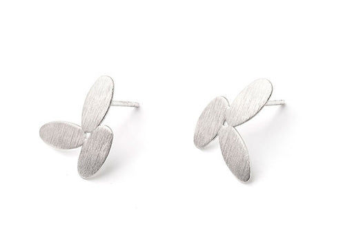 "Sterling Silver ""Rice"" Stud Earrings"