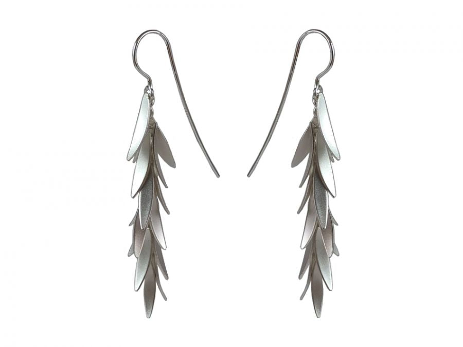 "Sterling Silver ""Falling Petals"" Earrings"