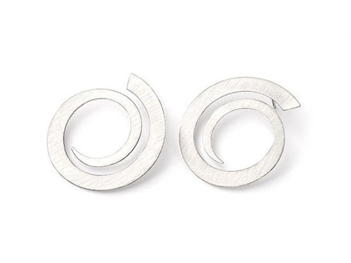 "Sterling Silver ""Reiki Swirl"" Earrings"