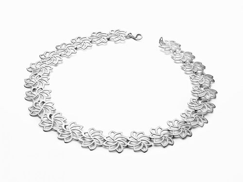 "Sterling Silver ""Lotus Bloom"" Necklace"