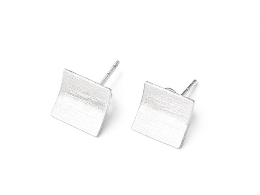 "Sterling Silver ""Pages"" Stud Earrings"