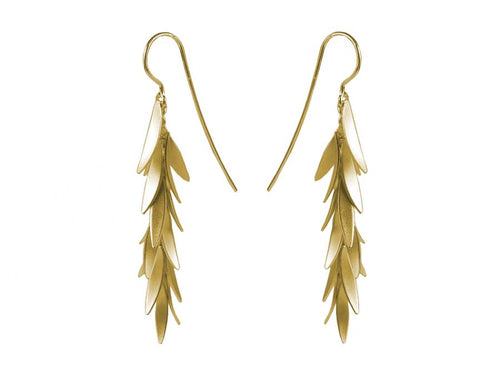"Gold Plated Sterling Silver ""Falling Petals"" Earrings"