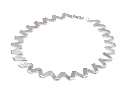"Sterling Silver ""Zig Zag"" Necklace"