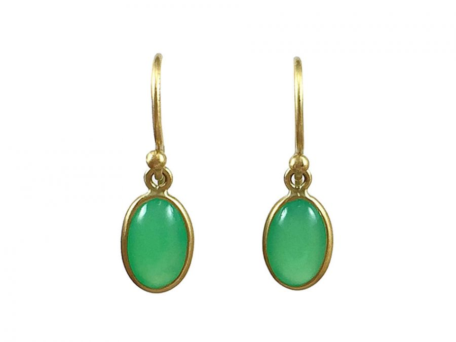 "Chrysoprase ""Oval"" Earrings"