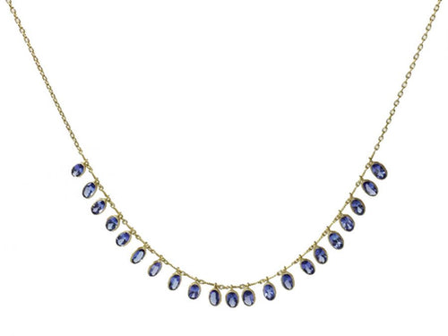 "Tanzanite ""Demi-Fringe"" Necklace"