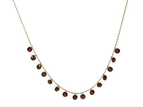 "Garnet ""Fringe"" Necklace"