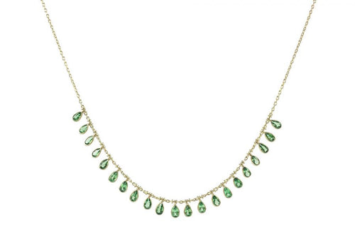 Tsavorite Garnet Demi-Fringe Necklace