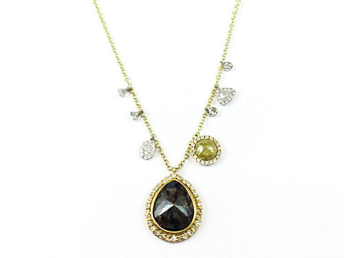 Rose Cut Brown Diamond Necklace