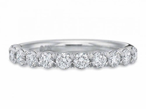 Simple White Gold and Diamond Wedding Band