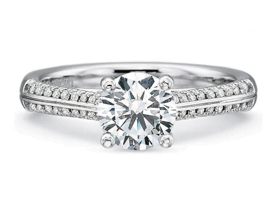 White Gold, Platinum and Diamond Engagement Ring in Washington DC