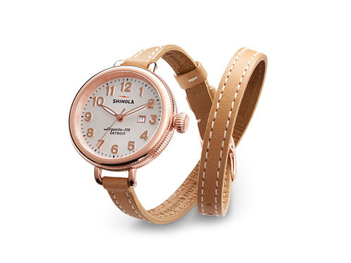 "The ""Birdy"" Double-Wrap 34MM Watch by Shinola"