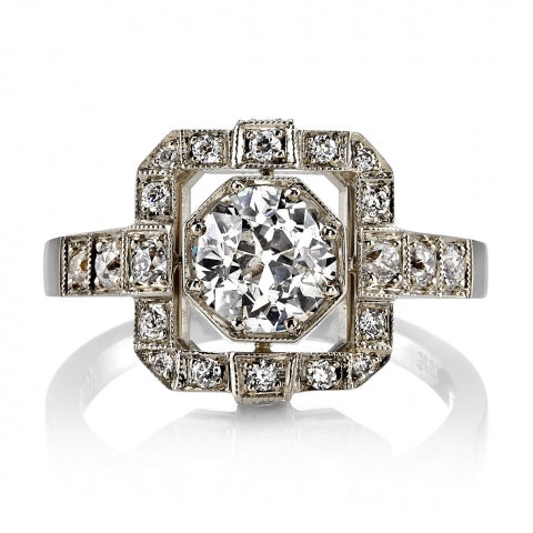 "18K White Gold and Diamond ""Katie"" Engagement Ring"