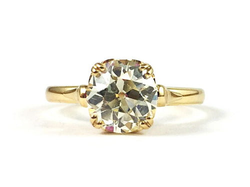 "Single Stone 18K Yellow Gold and Diamond Solitaire ""Sydnee"" Engagement Ring in Washington DC"