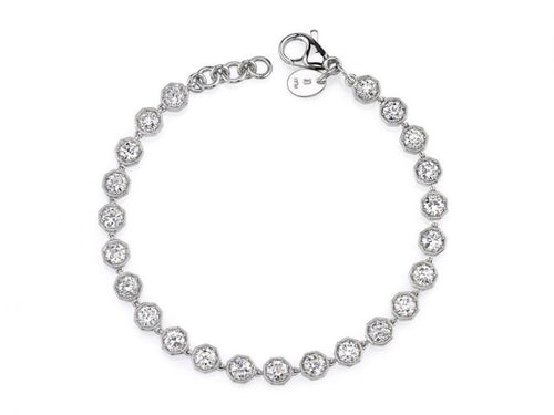 "Platinum And Diamond ""Gemma"" Bracelet"