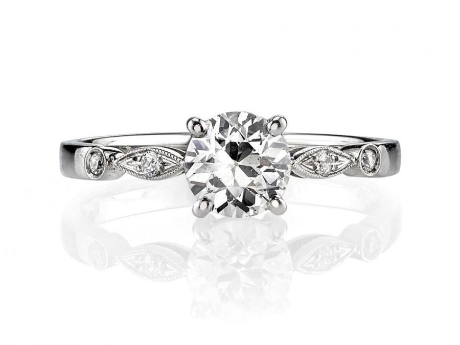 "Platinum and Diamond ""Caitlyn"" Engagement Ring"