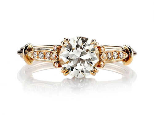 "18K Rose Gold and Diamond ""Sophia"" Engagement Ring"