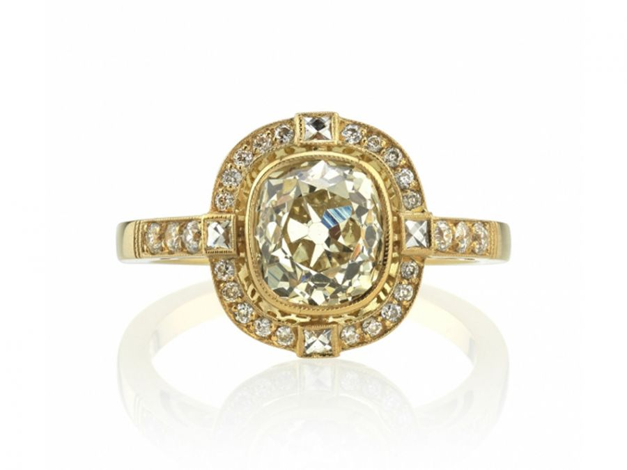 "Single Stone 18K Yellow Gold and Diamond ""Shanna"" Engagement Ring in Washington DC"