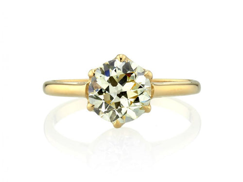 "Single Stone 18K Yellow Gold and Diamond Solitaire ""Blaire"" Engagement Ring in Washington DC"