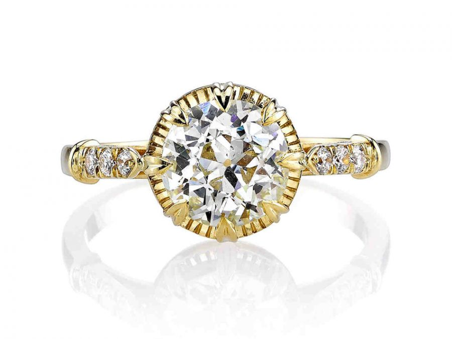 Single Stone 18K Yellow Gold and Old European Cut Diamond Engagement Ring in Washington DC
