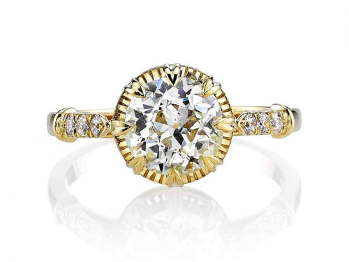 "18K Yellow Gold and Diamond ""Arielle"" Engagement Ring"