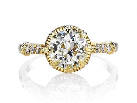 Yellow Emerald-cut Diamond Engagement Ring