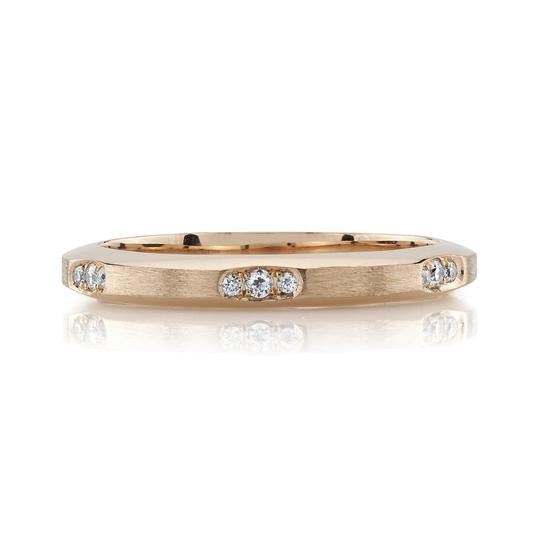 "Rose Gold and Diamond ""Grover"" Wedding Band"