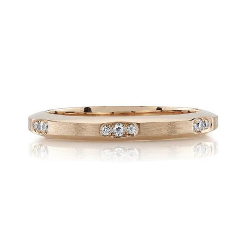 "18K Rose Gold ""Grover"" Wedding Band"