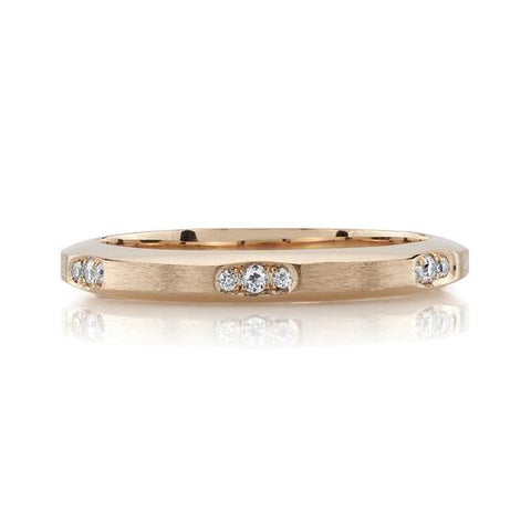 18K White Gold and Diamond Wedding Band