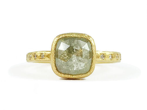 Gold and Gray Diamond Engagement Ring in Washington DC