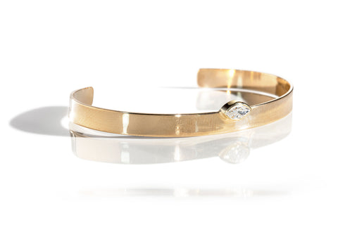 Diamond Bangle Bracelet in Rose Gold