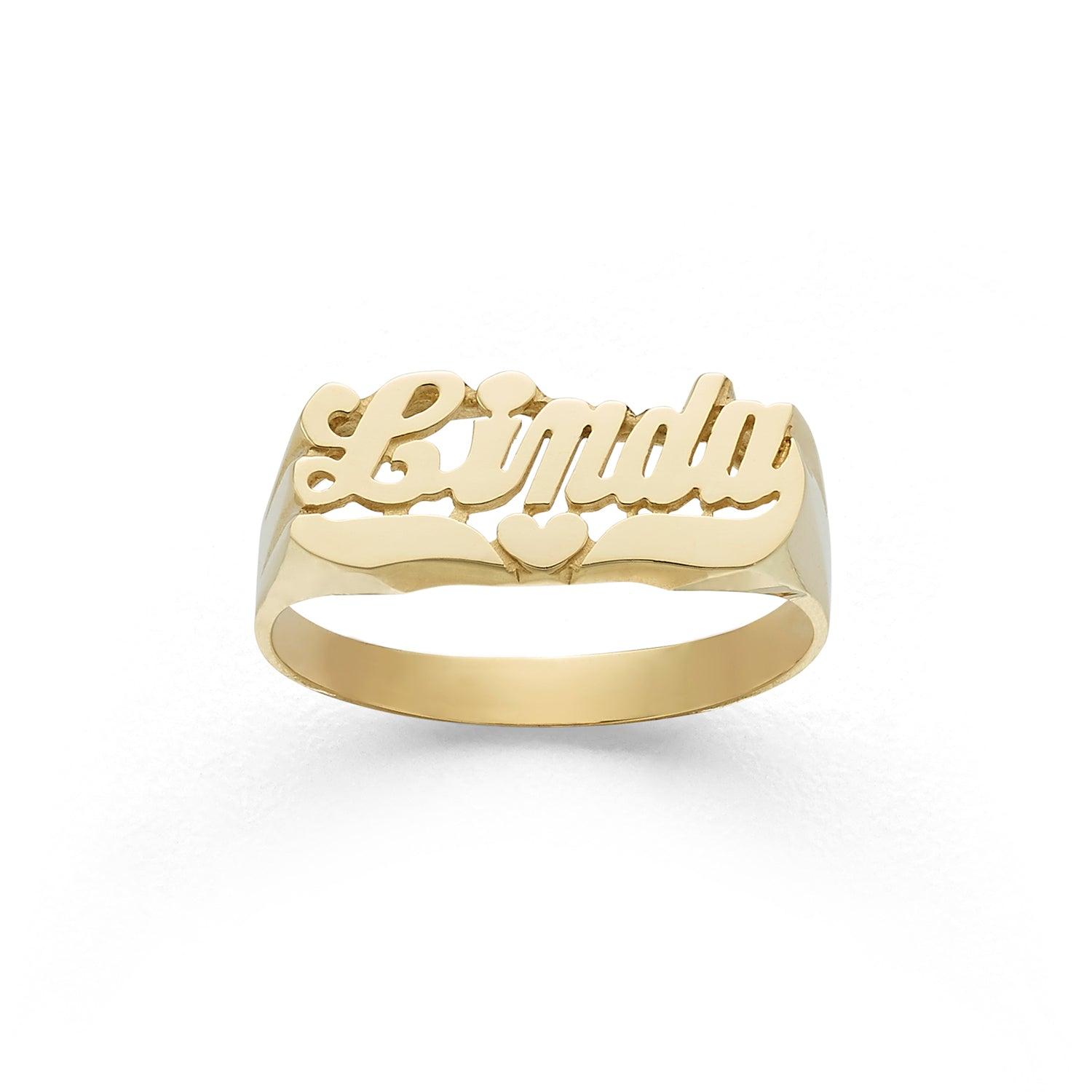 NAME RING PERSONALIZED 10K Rose Gold