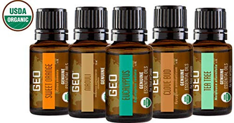 Organic Whole Body Healing Essential Oil Set