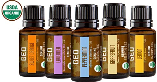 Organic Aromatherapy Essential Oil Set