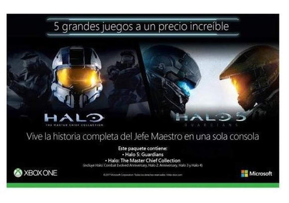 Halo Collection: Halo 5 + Master The Chief Collection. 5 juegos en 1-7512345673038-TWOPACKHALO-Eminoristas
