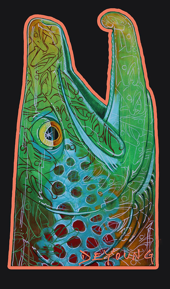 Deyoung Graffiti Brown Trout Decal