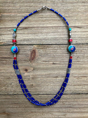 Three Strands of Lapis